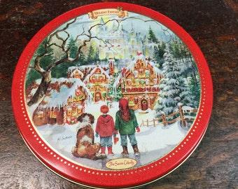 """Swiss Colony """"Holiday Fantasy"""" Tin"""