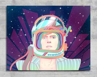 David Bowie - Ziggy Stardust - Portrait - Art Print - Wall Art - A4 - Painting - Sketch - Astronaut - Illustration - Psychedellic
