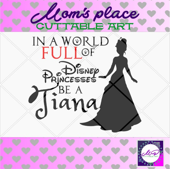 70 0ff Sale Disney Princess Svg Tiana Pricess And The Frog Etsy