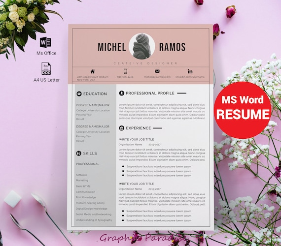 Modern Resume Template Microsoft Word Free Resume Template Professional Layout Functional Resume Template Words