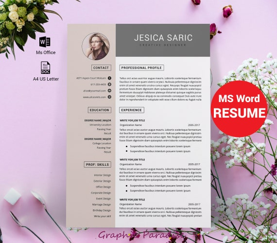 Professional Resume Template Instant Download 3 Page Resume Resume Template Word Cv Cv Template Curriculum Vitae Cover Letter Modern