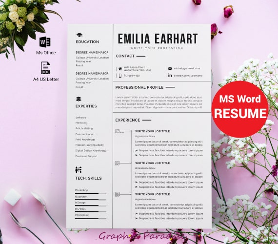 Resume Design Template Modern Resume Template Word Free Download Professional Resume Template Microsoft Word Design