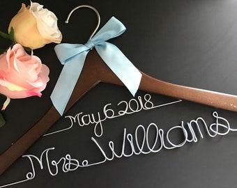 Free shipping Wedding Dress Hanger, Bride Hanger, Bridesmaid Hangers, Bridal Shower Gift, Engagement Gift,  Personalized Bride
