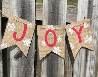 christmas banner joy banner snowflake banner custom banner burlap christmas banner christmas decor christmas mantle christmas - Burlap Christmas Banner