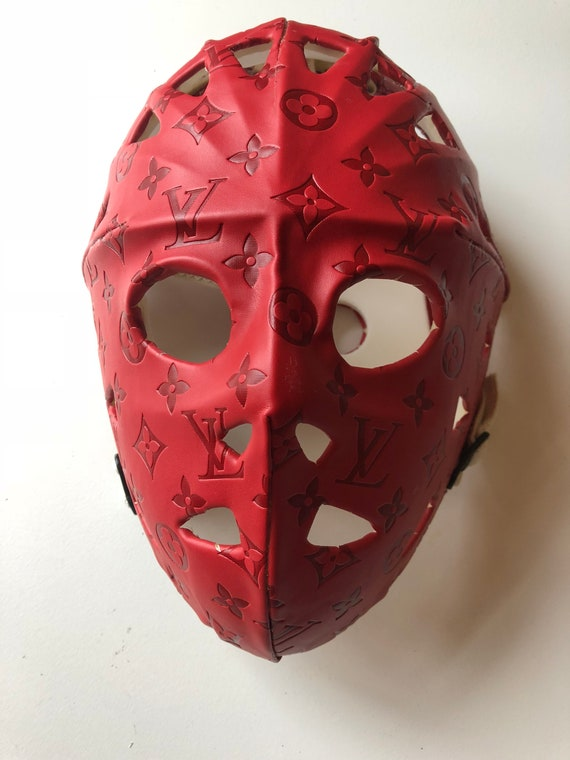 fc3bed941aed9 Red LV Hockey Mask 1 of 4