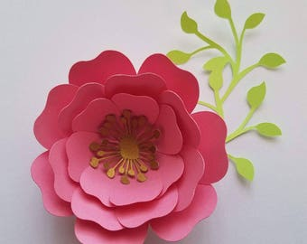 10 pcs olive green cherry blossoms small paper flowers etsy set of 10 dark pink wyellow small paper flowers bridal flowers mightylinksfo