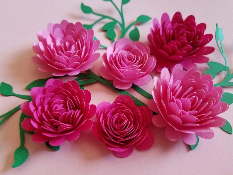 Paper Flower Flower Paper Roses Table Decor Flower Arrangement Anniversary Gift Birthday Wedding Flower Bouquet Wall Decor