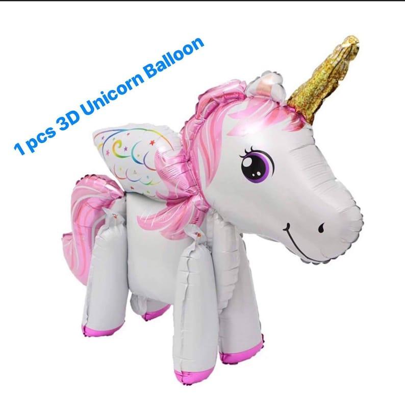 Pink 3D Unicorn Balloon, Unicorn Party Theme Balloons, Unicorn Photo Props,  Birthday Balloons, Baby Shower Balloons, My Little Pony Balloons