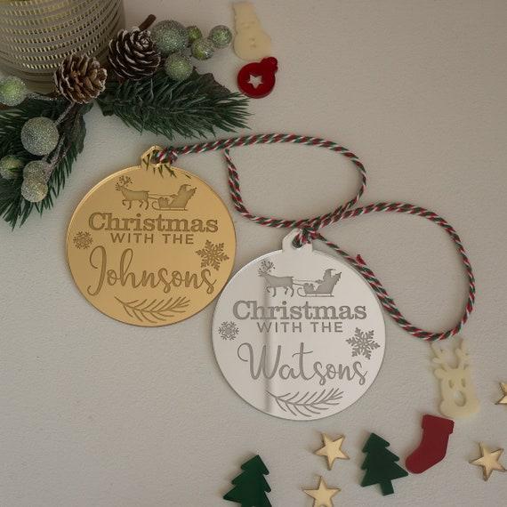 Personnalisé Acrylique Famille Arbre de Noël étoile décoration Babiole Cadeau de Noël