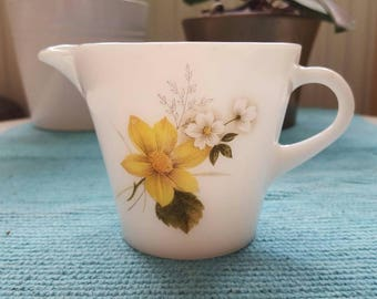 Vintage JAJ Pyrex Autumn Glory Milk Jug Vintage Kitchenalia
