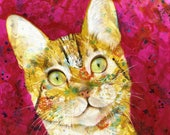 Cat fine art print - cat portrait - tabby cat - by Michelle Gilks