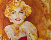 Marilyn fine art print - Marilyn Monroe - Norma Jean - Movie Star portrait - by Michelle Gilks