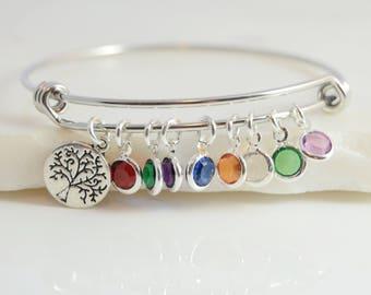 Birthstone Bracelet, Mother Bracelet, Mom Birthstone Bracelet, Mom Birthday Gift, Mom  Gift From Daughter, Grandma Bracelet, Grandma Gift