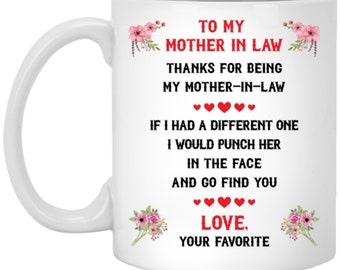 To My Mother In Law Mug Punch Face Gift Birthday