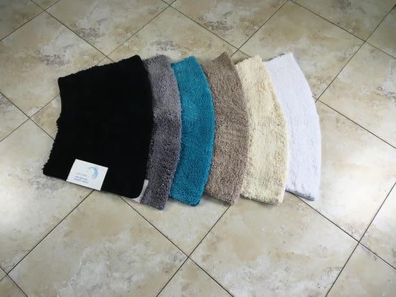 microfibre non slip small curved shower mat etsy. Black Bedroom Furniture Sets. Home Design Ideas