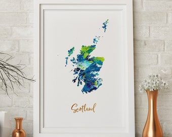 Scotland Rutherglen watercolor home gift wall art poster print picture