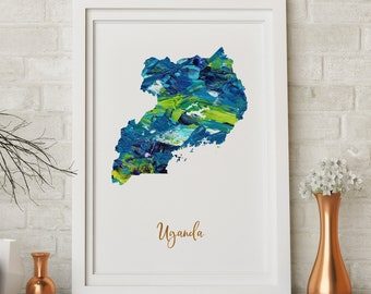 Luxembourg Map art poster print wall decor Travel Map office home Gift