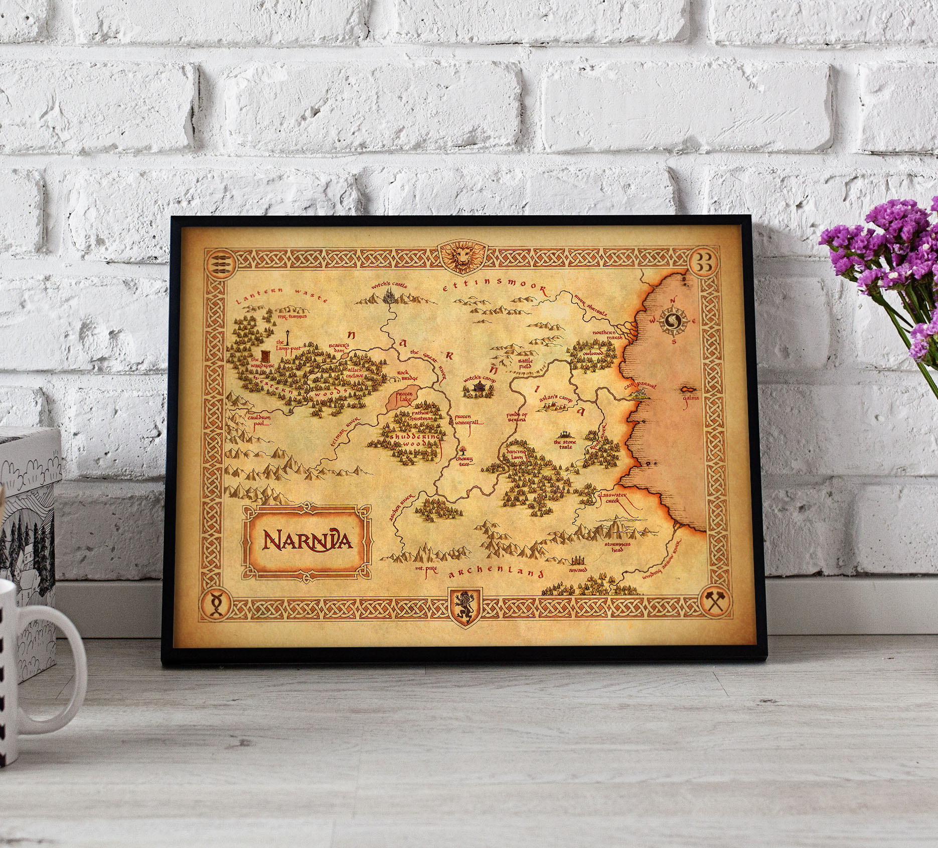 Chronicles of Narnia Narnia Map print Narnia Map poster | Etsy