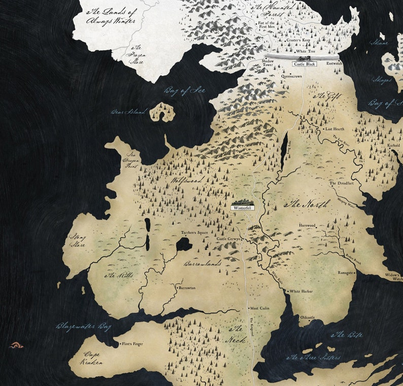 Karte Westeros Essos Deutsch.Game Of Thrones Map Poster Westeros Essos Map Art Seven Kingdoms Print Iron Throne Wall Art Winterfell Stark Home Office Wall Décor Gift Gift Gift