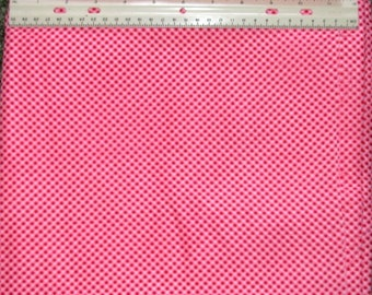 """Bright Pink Red & white checked cotton quilting fabric 44"""" wide x 2 1/2 yards"""