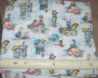 CHILDREN'S PRINT Cotton Quilting Fabric 2 yds x 45 in wide