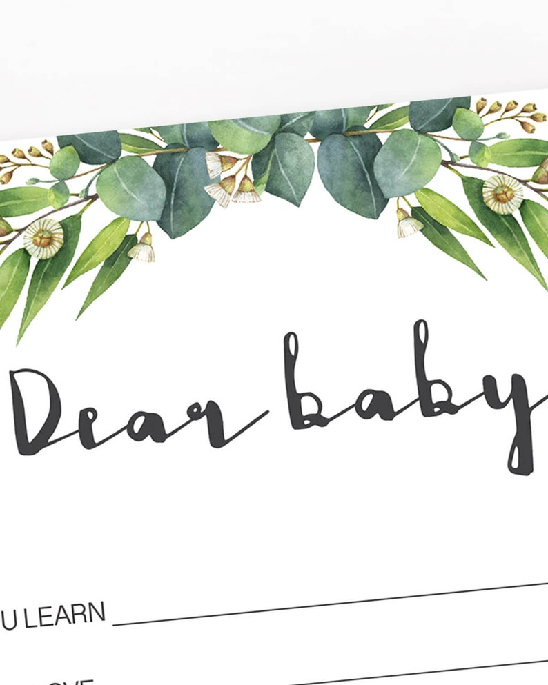 Green Leaves Baby Shower Games Downloads Eucalyptus Baby Shower Activity Greenery Baby Party Kit Watercolor Greens Baby Shower Decor DIY CE2