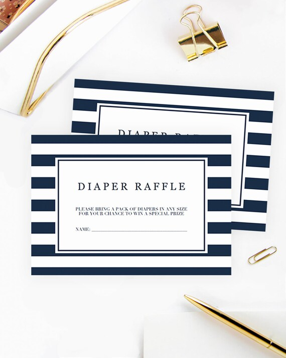 photograph regarding Printable Diaper identify Diaper Raffle Ticket Printable Diaper Raffle Playing cards Armed service Blue Striped Kid Shower Increase Diaper Raffle Printable Tickets Boy or girl Boy Shower NS1