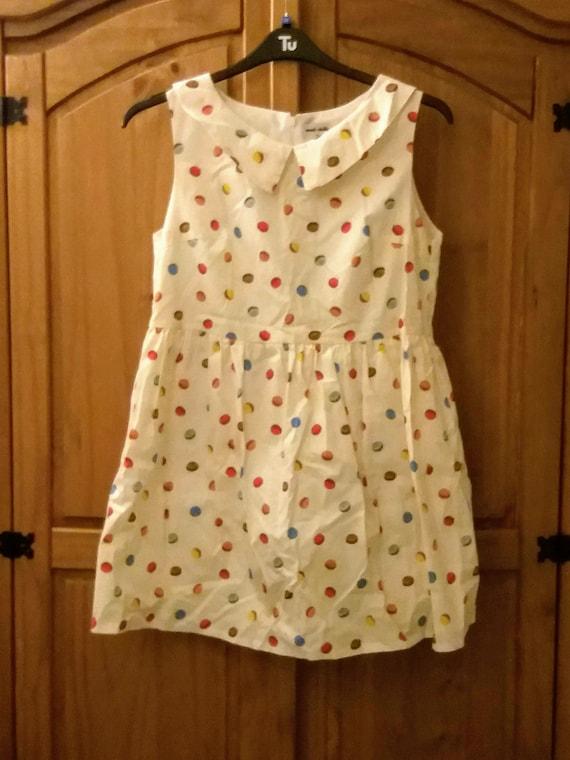 Macaron Print Smock Dress