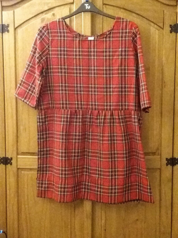 Tartan Smock Style Dress