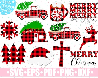 Red Buffalo Plaid Monogram Letters with Wreath Full Alphabet PNG INSTANT DOWNLOAD Print and Cut File Silhouette Cricut Sublimation Mug