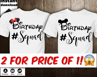 56270bc52 Mickey Mouse Iron on Transfer Disney Birthday Disney Family Shirt Birthday  Squad Birthday Decor Iron on Transfer Jpg Png DIY - DIGITAL FILE