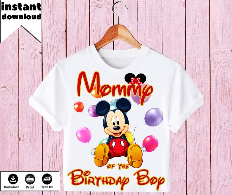 DISNEY  MICKEY MOUSE **********************  PERSONALIZED SHIRT IRON ON TRANSFER