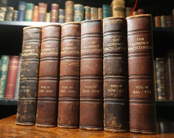 1929 The Compact Encyclopedia - Full 6 Volume Set (Antique Books)