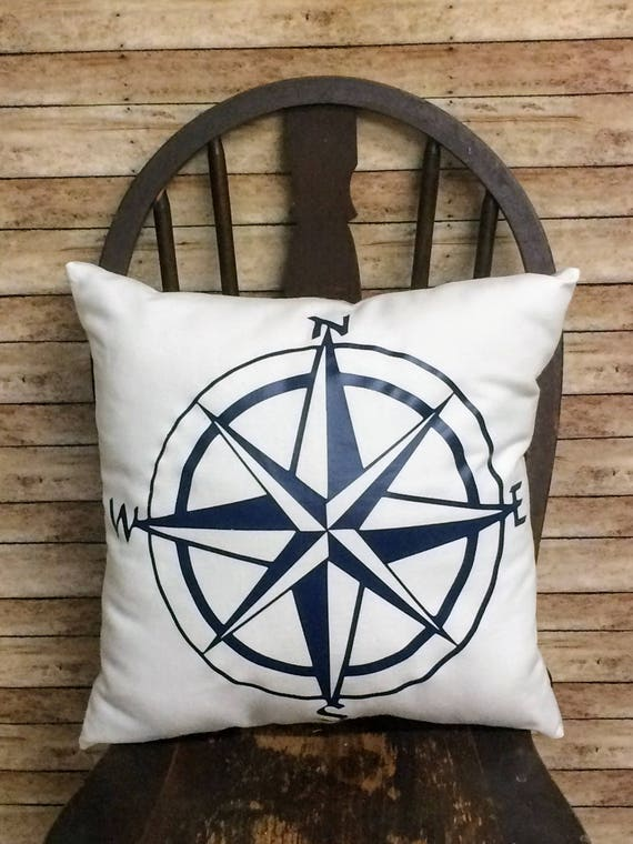 Compass Throw PillowCabin DecorLake House DecorBeach Home Etsy Magnificent Cabin Decor Throw Pillows