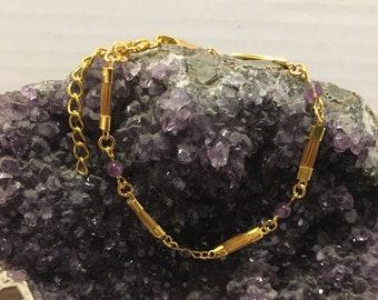 Golden Grass and Gemstone Bracelet / Capim Dourado / Various Colors / Organic / Eco-Friendly