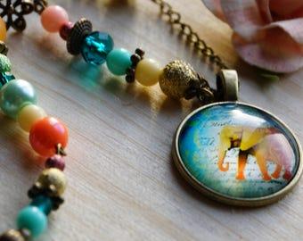 "Necklace ""solar elephant"""