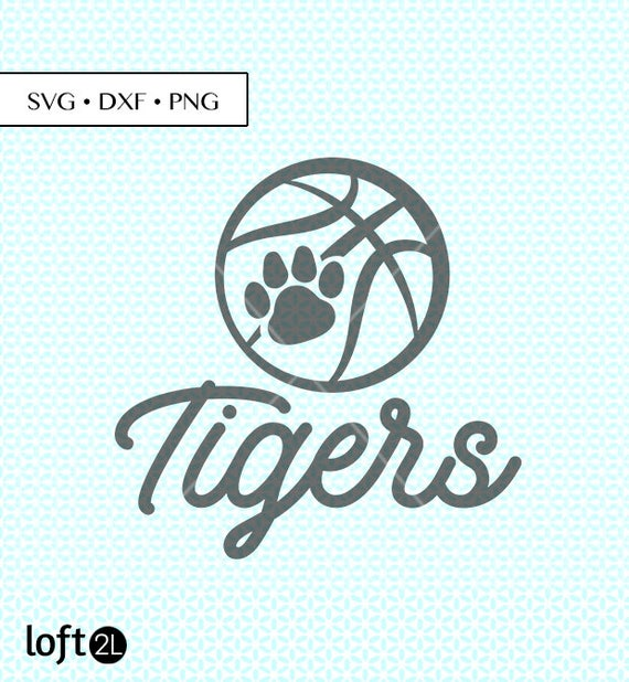 Tigers Basketball Svg Dxf Png Cut Files Tiger Basketball Svg Etsy