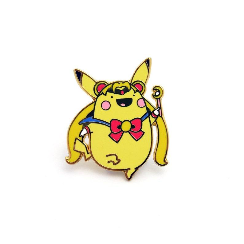 81e064c186 Sailor Pikamoon Enamel Pin    pokemon sailor moon pikachu
