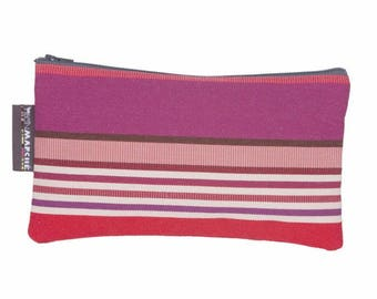 Striped French pouch - make up bag - pencil case