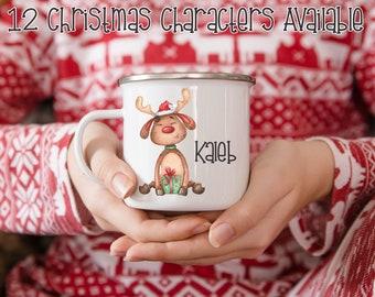 Personalized Christmas Camp Mug, Santa Mug For Kids, Hot Chocolate Christmas Mug, Christmas Eve Gift Box, Christmas Eve Gift, Santa Mug