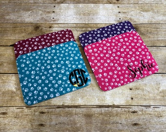 Personlized Mouse Pads, Paw Print Mouse Pads, Colorful Pattern Mouse Pads