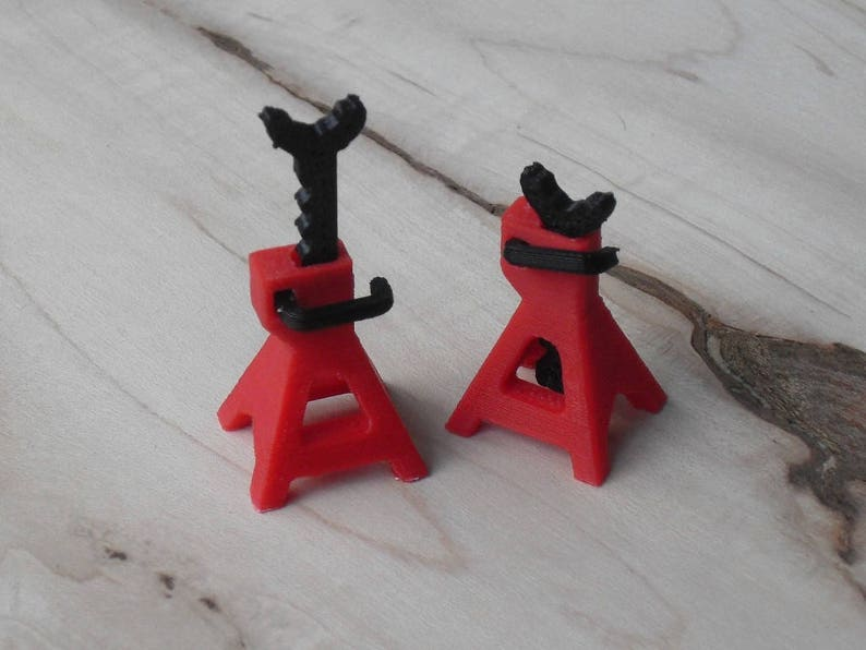 13447ac22 1 24th Scale Jack Stands Fully Functional Lego Model Car 3D