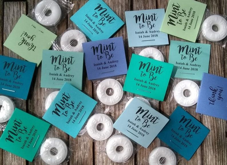 Teal Mint To Be Personalized Blue Wedding Wedding Candy Wedding Favors Aqua High Quality Turquoise Mint Custom Wedding Mints