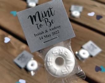 100 Custom Wedding Mints - Kraft Gray, Mint To Be, Wedding Favors, Wedding Candy, High Quality, Personalized