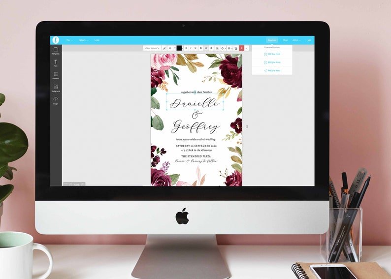 INSTANT Download 100/% Editable Templett FLORENCE Floral Wedding Details Card Printable Wedding Accommodation Information