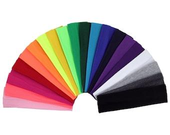 Cotton Headbands You Pick Colors Soft Stretch Sports Yoga Headband Sweat Absorbent Elastic Head Band Blanks