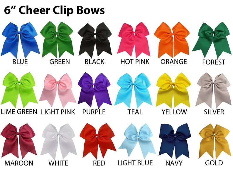 Personalized Hair Bow Embroidered Cheerleading