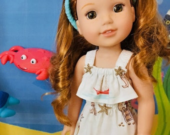 Under the Sea Dress PATTERN for Wellie Wisher Dolls