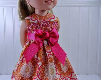 Faux-Smocked Party Dress PATTERN for Wellie Wisher Dolls.PDF