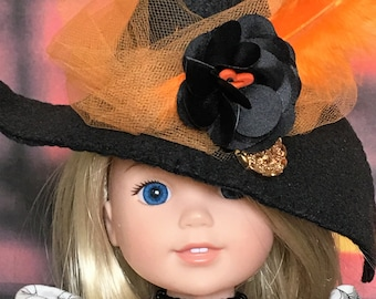 Halloween Witch Dress, shoes and hat PATTERN for Wellie Wishers